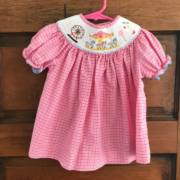 Smocked dress top